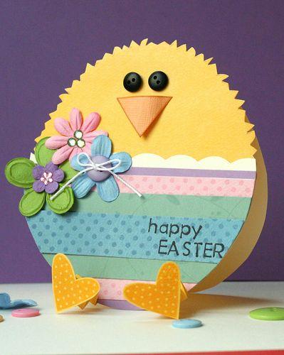 Jednoduché Velikonoční kuřátko z papíru.