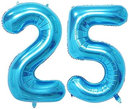 Balónky ve tvaru číslice 25