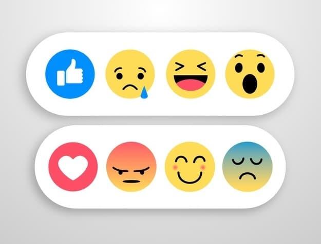 Obrázky emotikonů zobrazující náladu člověka.