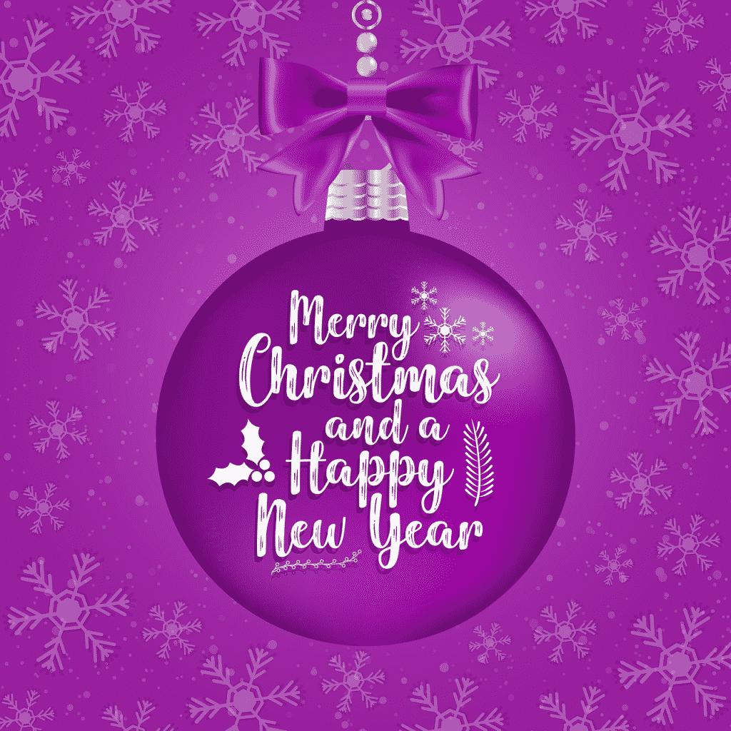 Baňka s přáníčkem k Vánocům a do nového roku.