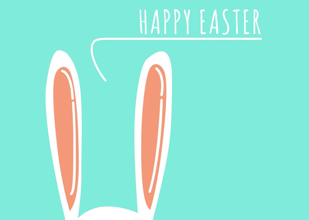 Kreslené přání k Velikonocům v angličtině.