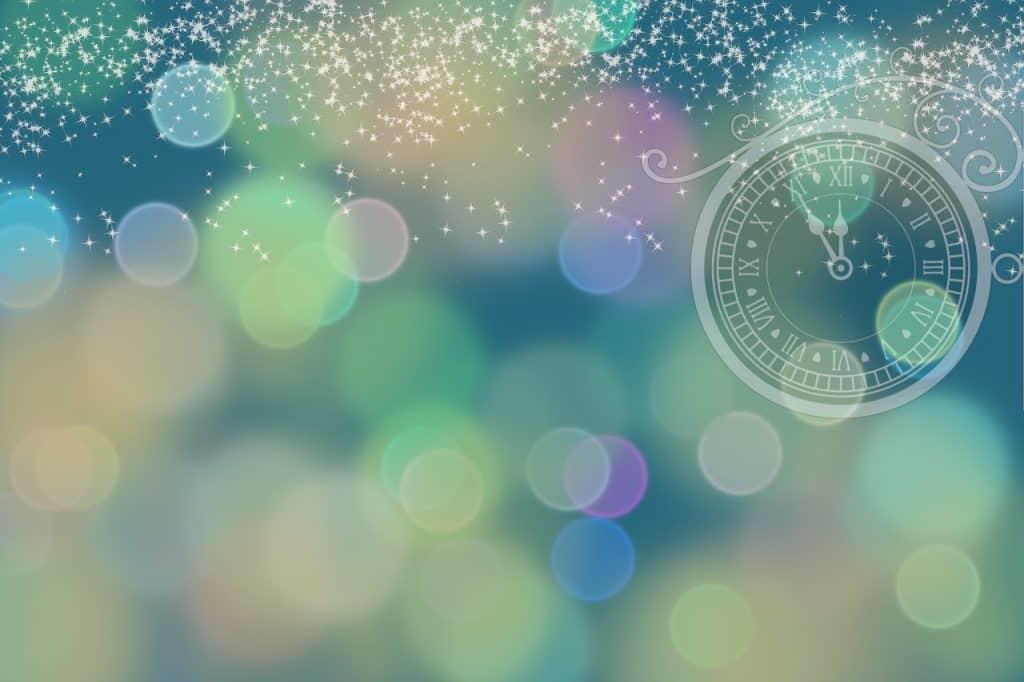 Pohled s novoročním motivem.
