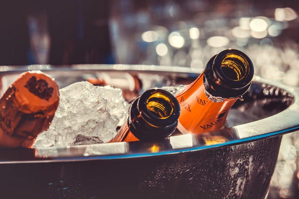 Šampaňské na oslavu svátku Barbory.
