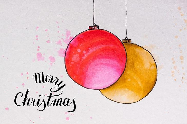 Kreslené vánoční baňky.