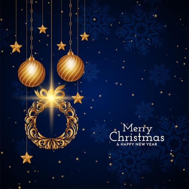 Pohled s přáním k Vánocům a do Nového roku.