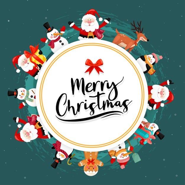 Roztomilý obrázek s vánočním blahopřáním.