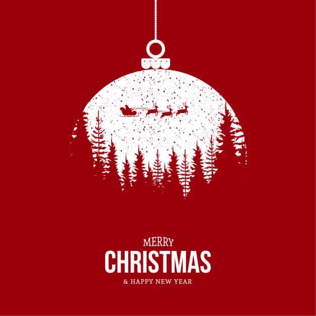 Blahopřání s vánočním obrázkem Santy a textem.