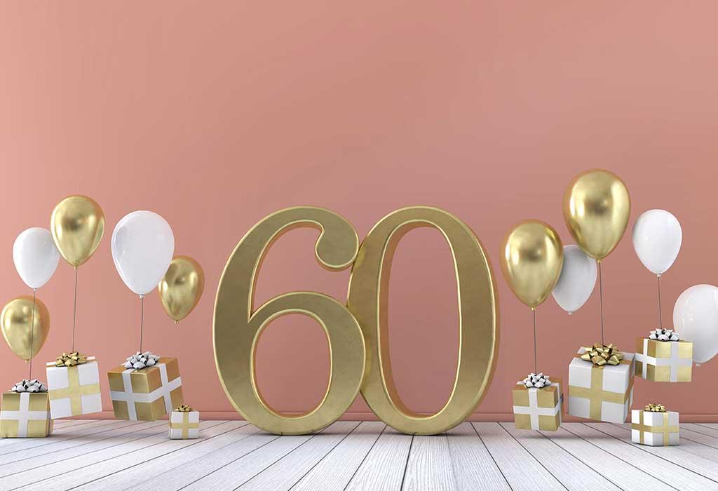 Oslava 60. narozenin.