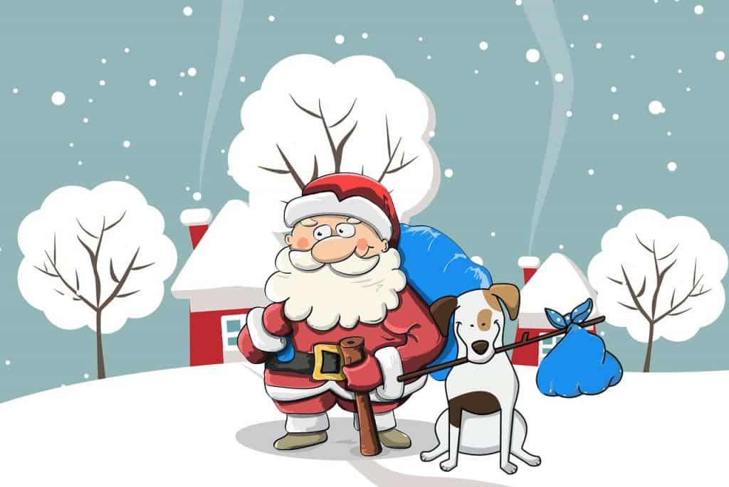 Santova pohlednice k Vánocům novému roku.
