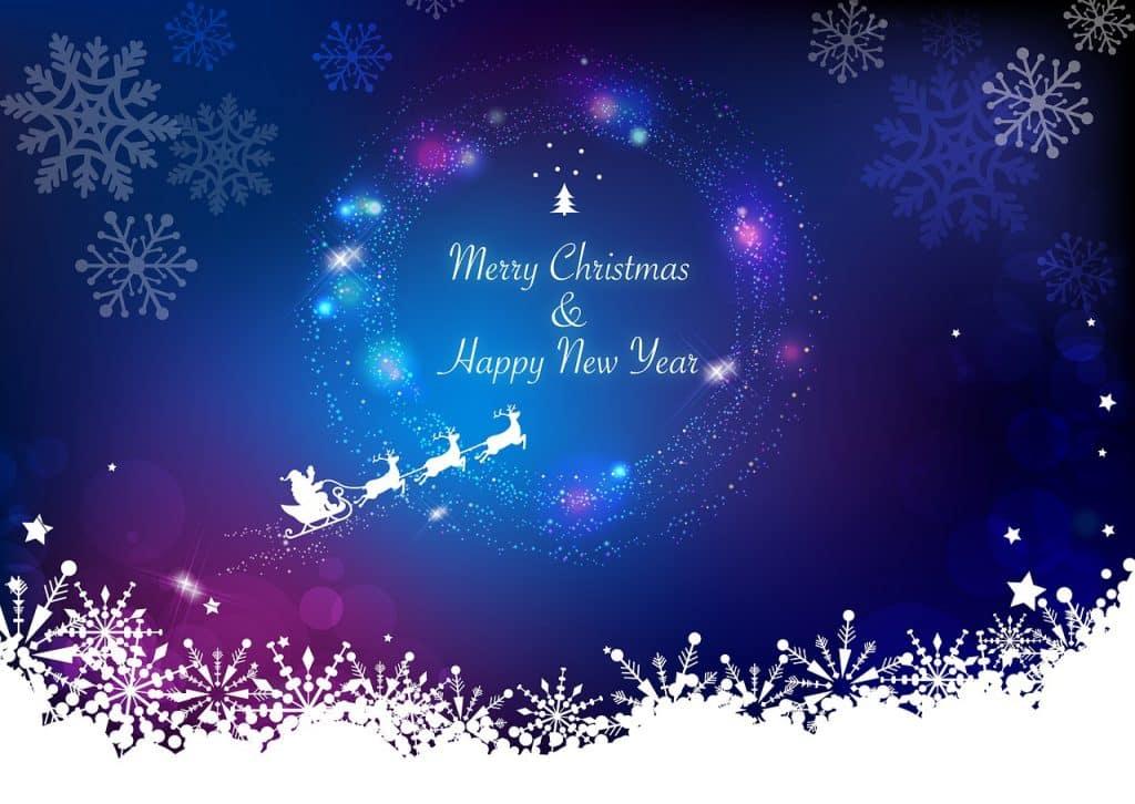 Obrázkové přáníčko s vánočním motivem.