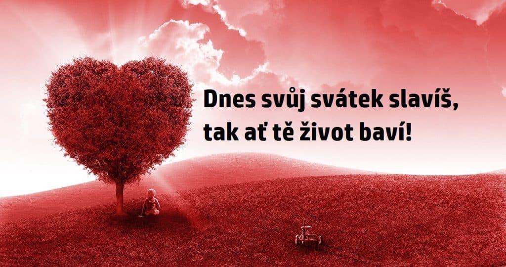 Romantické blahopřání s textem.