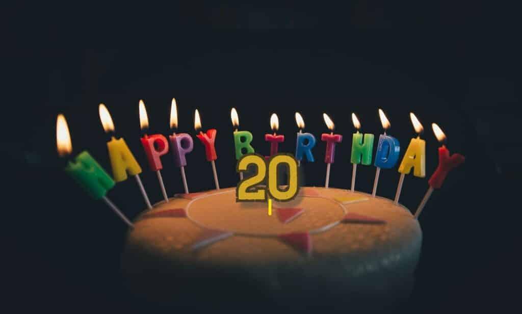 Obrázkové narozeninové přání s dortem.