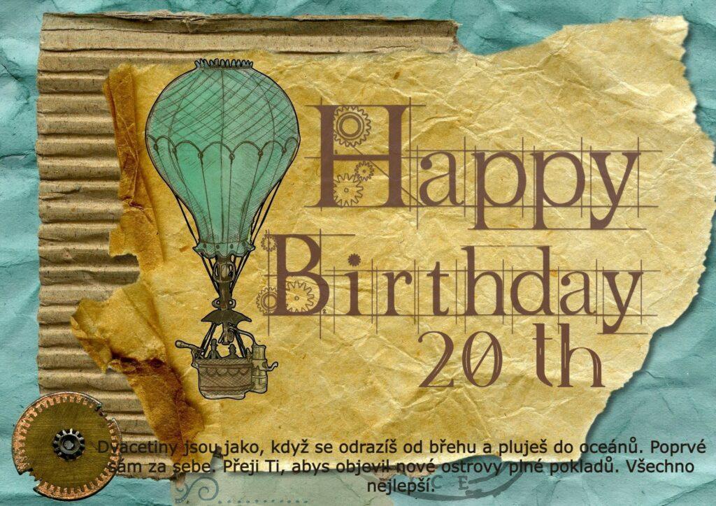 Dobrodružné blahopřání k narozeninám.