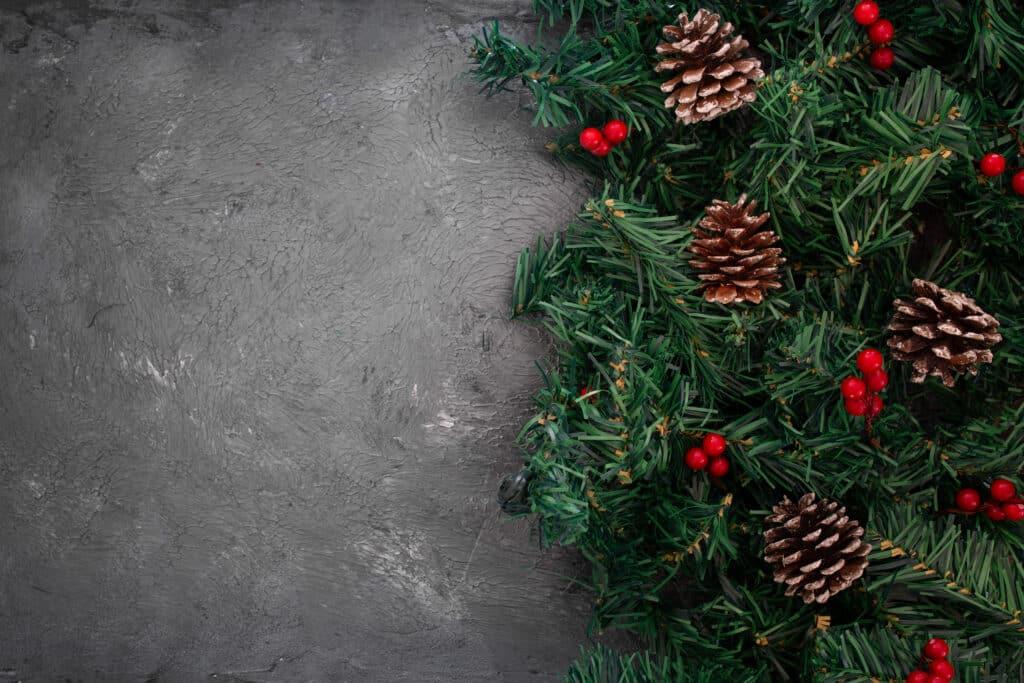 Obrázek s vánočním pozadím.