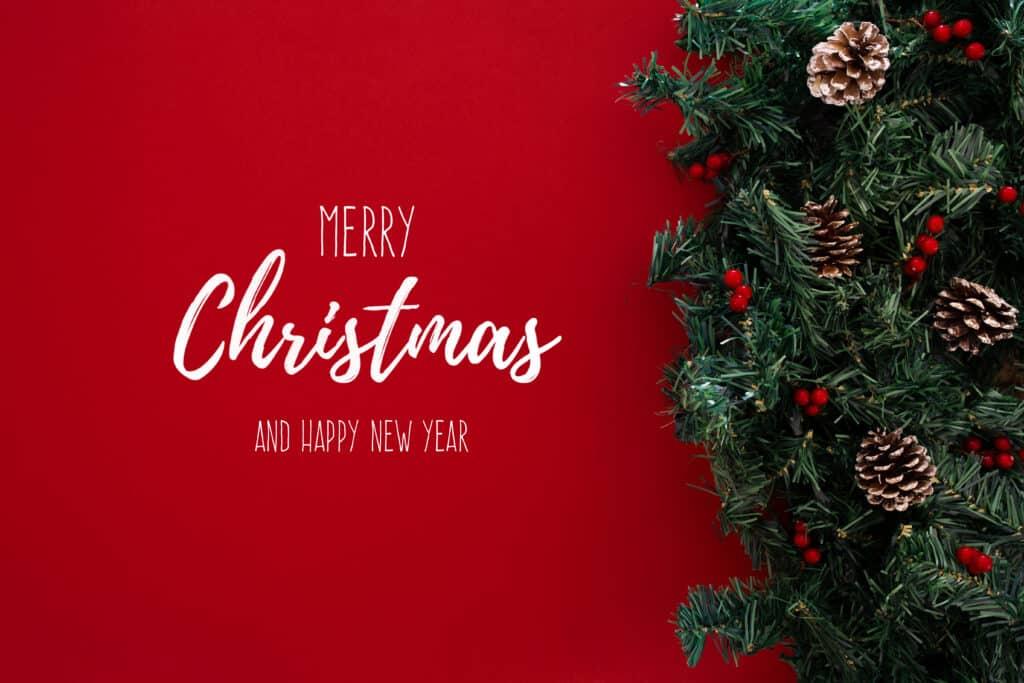Tradiční pohlednice k Vánocům a novému roku.