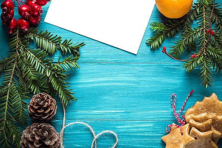 Pozadí k tisku vlastní pohlednice k Vánocům.