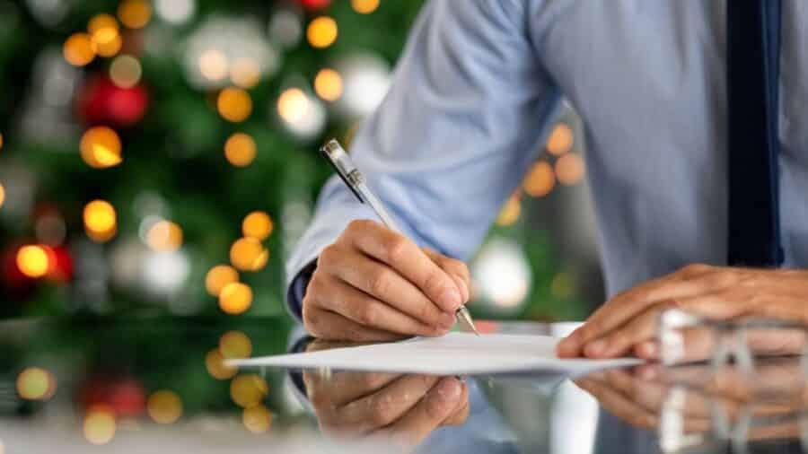 Přání k Vánocům pro obchodní partnery a kolegy.
