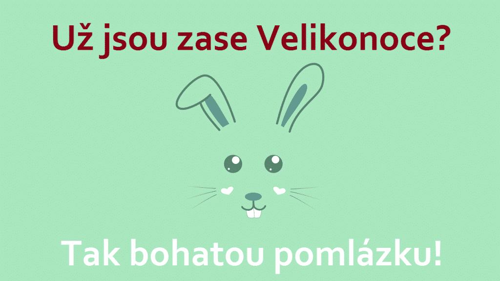 Mint přání s králíkem.
