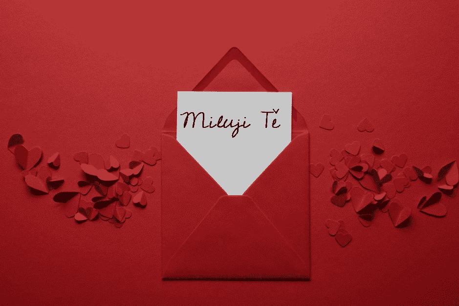 Vzkaz pro milovanou osobu v obálce.